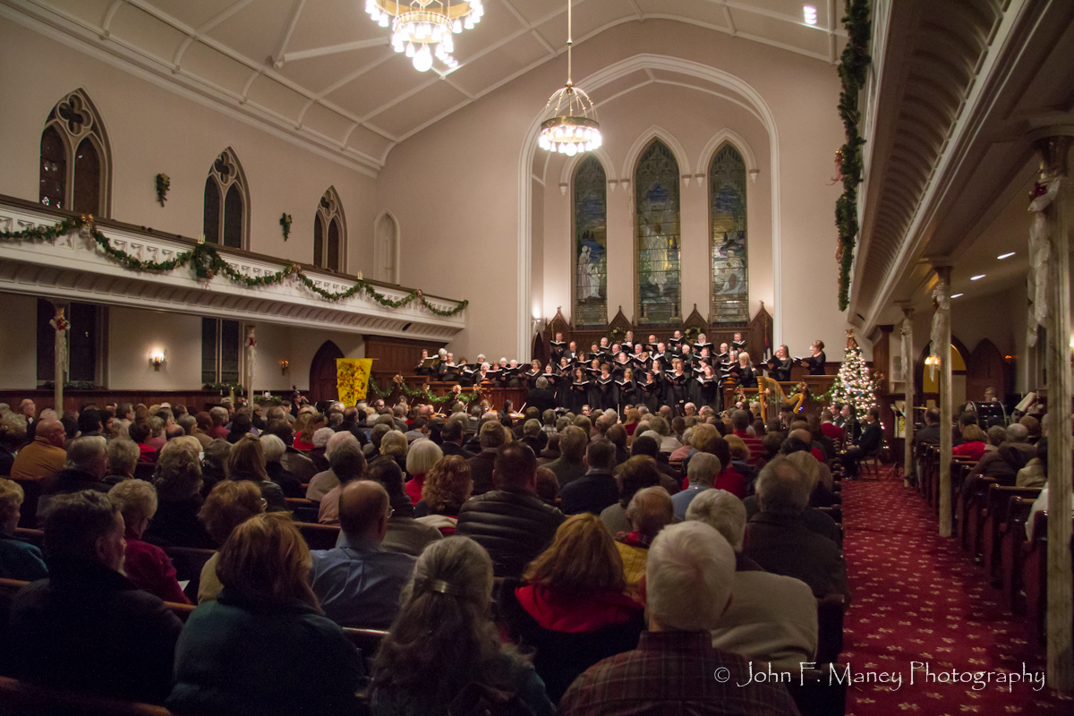 Classic Choral Society in performance at First Presbyterian Church in Goshen