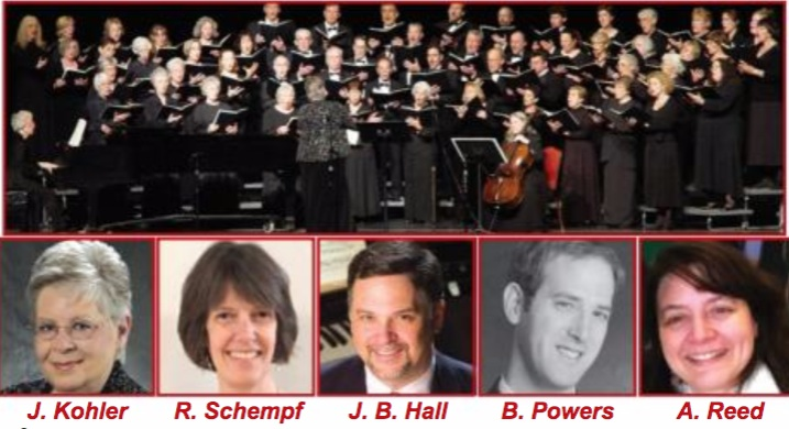 Classic Choral Society and featured artists for Spring 2018 concerts